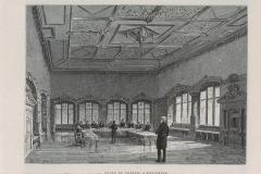 Hôtel de la Couronne, dit aussi Palais de la Régence - English: ENSISHEIM, Palais du Conseil souverain, Intérieur ,de WANCKLER, ill. et A. KOHL, graveur (1889)