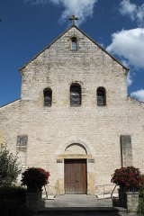 Couvent - Deutsch: Kirche Saint-Jacques-le-Majeur (Jakobus der Ältere) in Feldbach im Département Haut-Rhin (Elsass/Frankreich), Fassade