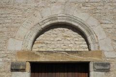 Couvent - Deutsch: Kirche Saint-Jacques-le-Majeur (Jakobus der Ältere) in Feldbach im Département Haut-Rhin (Elsass/Frankreich), Hauptportal