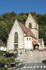 Eglise catholique Saint-Bernard-de-Menthon - Deutsch: Kirche Saint-Bernard de Menthon in Ferrette (Pfirt) im Département Haut-Rhin (Elsass/Frankreich)