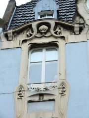 Immeuble - English: 1903 Art Nouveau house in Guebwiller, Alsace, France