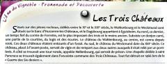 Ruines des châteaux de Weckmund et de Wahlenbourg - Français:   Panneau informatif sur les trois châteaux