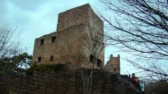 Ruines des châteaux de Weckmund et de Wahlenbourg - Français:   Le donjon du château de Wahlenbourg