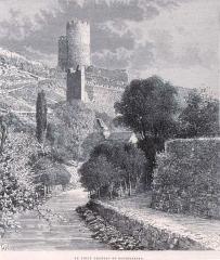 Château dit Schlossberg et enceinte - English: Château de Kaysersberg, de TAYLOR, ill. et A. KOHL, graveur