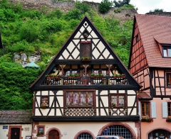 Maison - Deutsch: Altstadt von Kaysersberg, Elsass, Frankreich