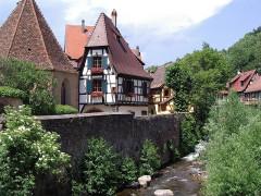Tour dite des Sorcières dans le jardin de l'Hôtel Chambord - English: Kaysersberg, Haut-Rhin, Alsace, France