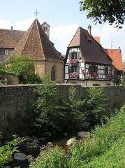 Tour dite des Sorcières dans le jardin de l'Hôtel Chambord - Deutsch: Malerischer Winkel in Kaysersberg, Elsass