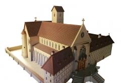 Ancienne abbaye cistercienne de Lucelle - Deutsch: Modell des Klosters Lützel im Elsass aus der Kapelle von Lucelle