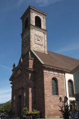 Eglise catholique Saint-Martin - Deutsch: Kirche Saint-Martin in Masevaux im Département Haut-Rhin (Elsass/Frankreich)