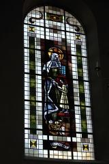 Eglise catholique Saint-Martin - Deutsch: Kirche Saint-Martin in Masevaux im Département Haut-Rhin (Elsass/Frankreich), Bleiglasfenster, Darstellung: Unterweisung Mariens
