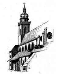 Temple réformé Saint-Etienne -  Vue (partielle) de l'ancien temple Saint-Étienne de Mulhouse.