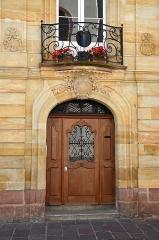Immeuble - Français:   Entrée de la Maison Loewenfels a Mulhouse, Haut Rhin, France