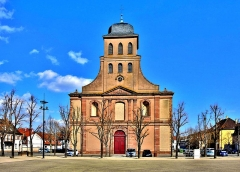 Eglise catholique Saint-Louis - Français:   Façade de l\'église Saint Louis de Neuf Brisach.