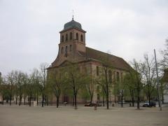 Place d'Armes Général-de-Gaulle (anciennement Place Centrale) - English: Neuf-Brisach, Church