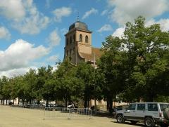 Place d'Armes Général-de-Gaulle (anciennement Place Centrale) - Français:   Église Saint-Louis de Neuf-Brisach, 26 place d\'Armes (Classé, 1939)