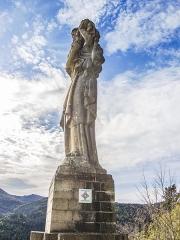 Statue monumentale de la Vierge à l'Enfant dite Vierge d'Alsace ou à l'Offrande - Français:   Statue de la Vierge d\'Alsace. Niederbruck. Haut-Rhin.