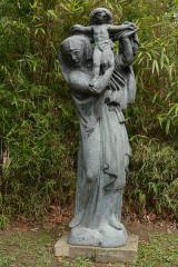 Statue monumentale de la Vierge à l'Enfant dite Vierge d'Alsace ou à l'Offrande -