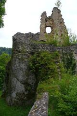 Ruines du château de Morimont - English: Castle Morimont - Donjon