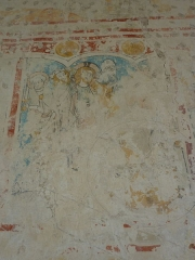 Chapelle Saint-Martin (chapelle du cimetière) - English: Fresco in the choir of the Saint-Martin des Champs church, Oltingue, Haut-Rhin, France