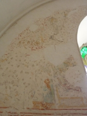 Chapelle Saint-Martin (chapelle du cimetière) - English: Fresco in the choir of the Saint-Martin des Champs church, Oltingue, Haut-Rhin, France