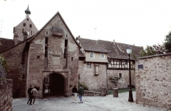 Anciennes fortifications -  Alsace Riquewihr Obertor 041990