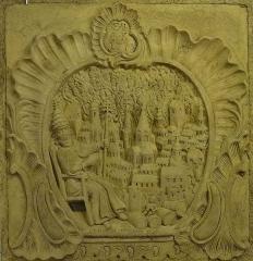 Ancienne halle au blé - Français:   Alsace, Haut-Rhin, Rouffach, Musée du Baillage(Halle aux blés), place de la République. Relief \