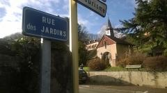 Cimetière - Deutsch: Kleine Kapelle oberhalb der Rue du Dr Muhlenbeck, Sainte-Marie-aux-Mines (Elsass, Frankreich)