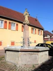 Fontaine du 17e siècle - Français:   Fontaine de la Vierge. Soultzmatt. Haut-Rhin