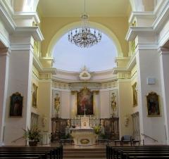 Eglise catholique Sainte-Anne - Alsace, Haut-Rhin, Église Sainte-Anne de Turckheim (PA00085709, IA68003621). Chœur néo-classique avec maître-autel