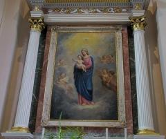 Eglise catholique Sainte-Anne - Alsace, Haut-Rhin, Église Sainte-Anne de Turckheim (PA00085709, IA68003621). Autel secondaire et tableau