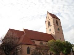 Eglise catholique Saint-Jean-Baptiste - Deutsch: Wattwiller: Katholische Kirche mit erneuerter Bedachung (2010), Außenansicht