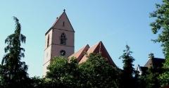 Eglise catholique Saint-Jean-Baptiste - Deutsch: Die katholische Kirche zu Wattwiller - Glockenturm mit Satteldach