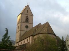 Eglise catholique Saint-Jean-Baptiste -  Wattwiller, église St Jean-Baptiste vue de trois-quarts
