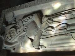 Eglise catholique Saint-Jean-Baptiste - Deutsch: Grabplatte der Anna von Wattweil, gestorben 1344