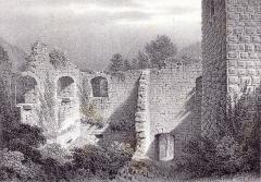 Ruines du château de Hagueneck - French painter and lithographer