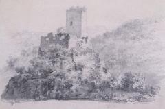 Ruines du château de Hagueneck - Français:   Château de Hagueneck, vue générale