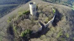 Ruines du château de Pflixbourg - English: Ruin of the 15th century castle Pflixbourg, near Colmar, France.