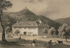 Ruines du château de Pflixbourg - Français:   Saint Gilles et Flixburg près Wintzenheim