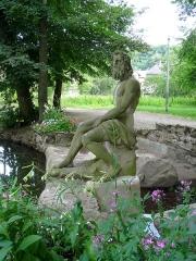 Ancienne orangerie des Hartmann - Français:   Neptune sculpté par Landolin Ohmacht (Parc de la Fecht, Munster, Haut-Rhin)
