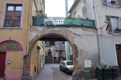 Ancien grenier médiéval -  Rue des Marchands, Colmar, Alsace, France
