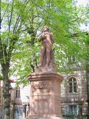 Cour d'Assises - Français:   Le square Pfeffel à Colmar: statue de Théophile Conrad Pfeffel.