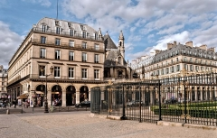 Temple de l'Oratoire du Louvre (ancienne chapelle du couvent de l'Oratoire) -  Coin rue de Rivoli / rue de Marengo, Paris, France.