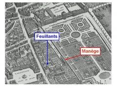 Ancien couvent des Feuillants - English: The salle du Manège and the Feuillants convent on the