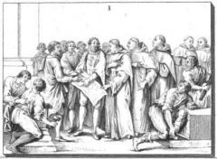 Ancien couvent des Feuillants -  Dessin du modèle du bas-relief de la porte d'entrée du couvent des Feuillants.