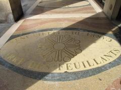 Ancien couvent des Feuillants - English: Inscription