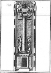 Ancien couvent des Feuillants -  Colonne et urne du cœur d'Anne Hurault, épouse de Charles de Rostaing.