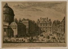 Eglise de l'Assomption ou église polonaise - English: The new porte Saint-Honoré, built in 1635. Paris, 1st arrond. On the left, the church Notre-Dame de l'Assomption with its large dome.