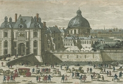 Eglise de l'Assomption ou église polonaise - English: The porte Saint-Honoré in the XVIIe century. On the right, the church Notre-Dame-de-l'Assomption de Paris : Paris 1st arr.