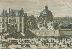 Eglise de l'Assomption ou église polonaise - English: The porte Saint-Honoré in the XVIIe century. On the right, the church Notre-Dame-de-l'Assomption de Paris: Paris 1st arr.
