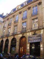 Hôtel Lulli - English: Hôtel Lully - built for the musician by Daniel Gittard. 45 rue des Petits-Champs, Paris 2nd arrondissement.